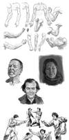 Sketchbook - Anatomy, Expressions and Gestures