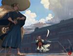 Samurai and Warrior Monk