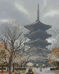 Snow Flurries at Toji