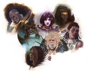 Sketchbook - Guild Wars Heroes
