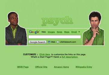 Psych Startpage by AwesomeStart