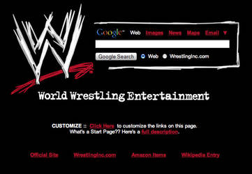 WWE Startpage by AwesomeStart