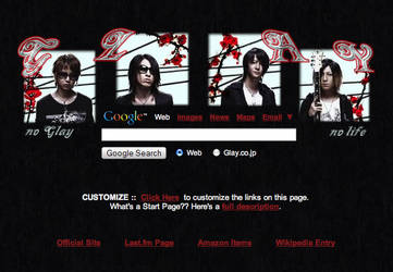 Glay Startpage by AwesomeStart