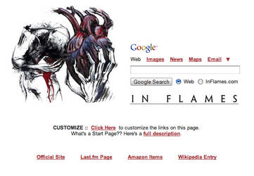 In Flames Startpage by AwesomeStart