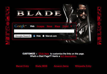 Blade Startpage by AwesomeStart