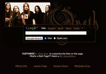 Opeth Startpage by AwesomeStart