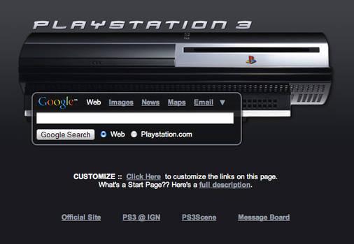 Playstation 3 Startpage