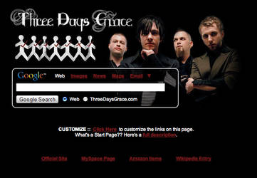 Three Days Grace Startpage by AwesomeStart