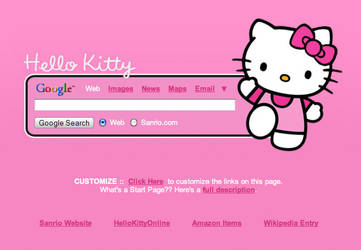Hello Kitty Startpage by AwesomeStart
