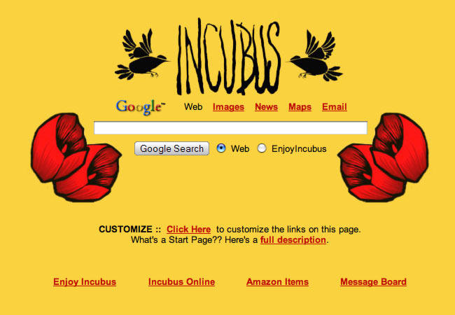 Incubus Startpage by AwesomeStart