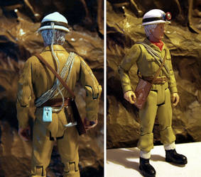 3rd Doctor in caving gear custom - Dr Who