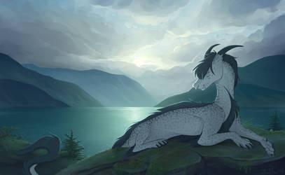 Mountain Lake by draktau