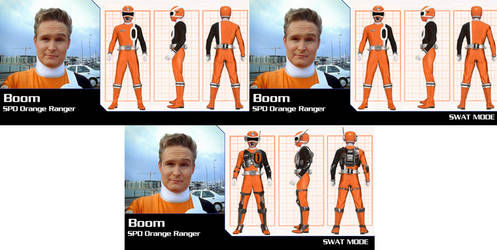 Power Rangers Boom SPD Orange Ranger