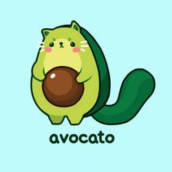 avocato // cat puns 2 by moonbeani