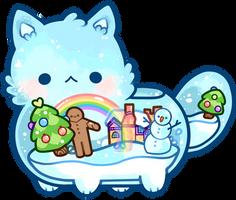a sparkly snow-globe friend by moonbeani