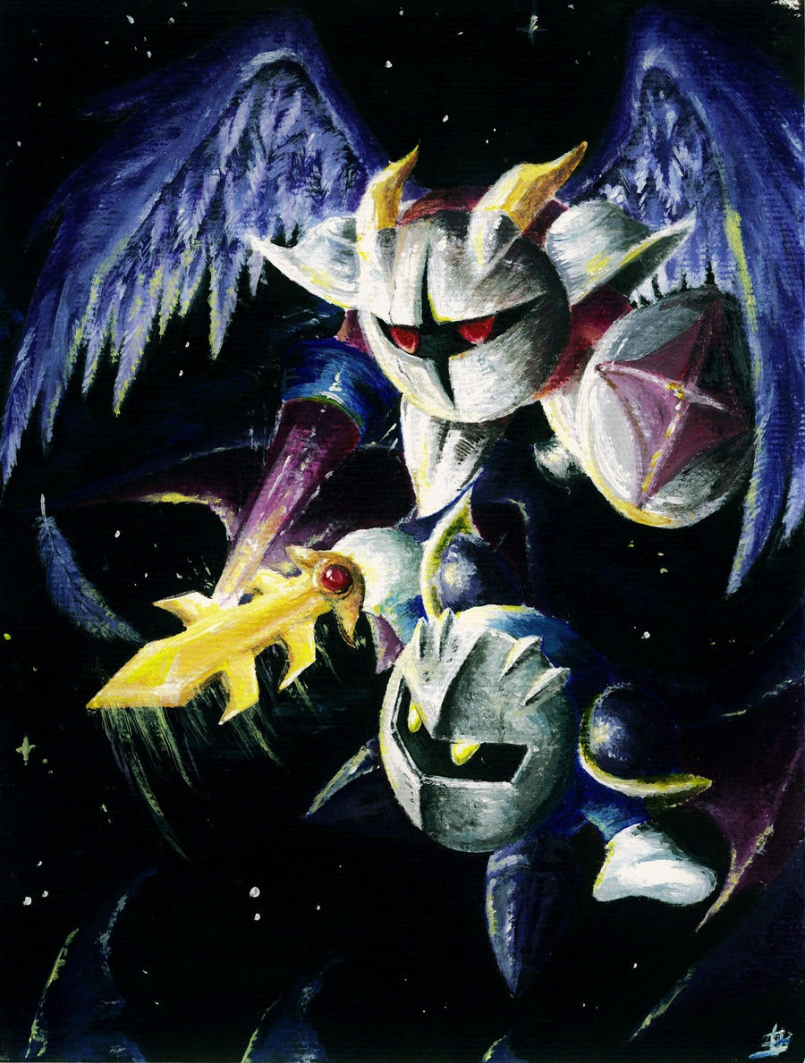 Meta Knight vs. Galacta Knight by omurizer