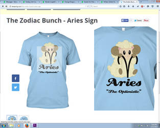 The Zodiac Bunch t-Shirt series by Nanaki-angel23