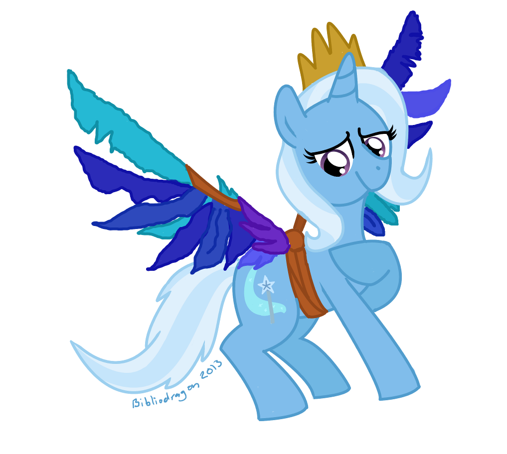 Behold Princess Trixie by bibliodragon