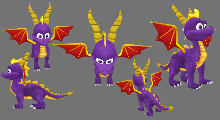 Spyro 3d model textured by RubberRabbit2