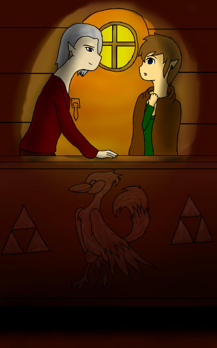 Link and Ghira - Want to get some supper with me? by DarkeRoseWolf