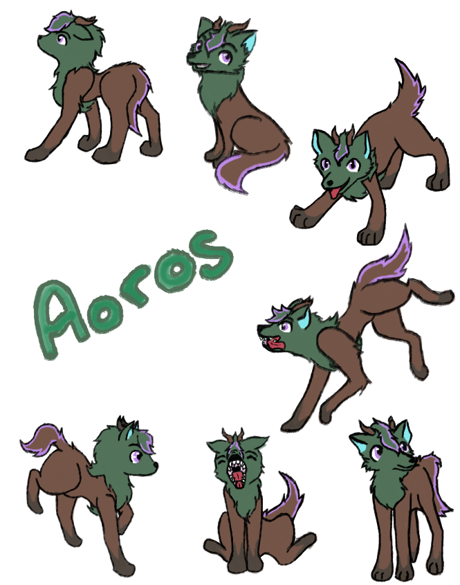 Aoros animal form by DarkeRoseWolf