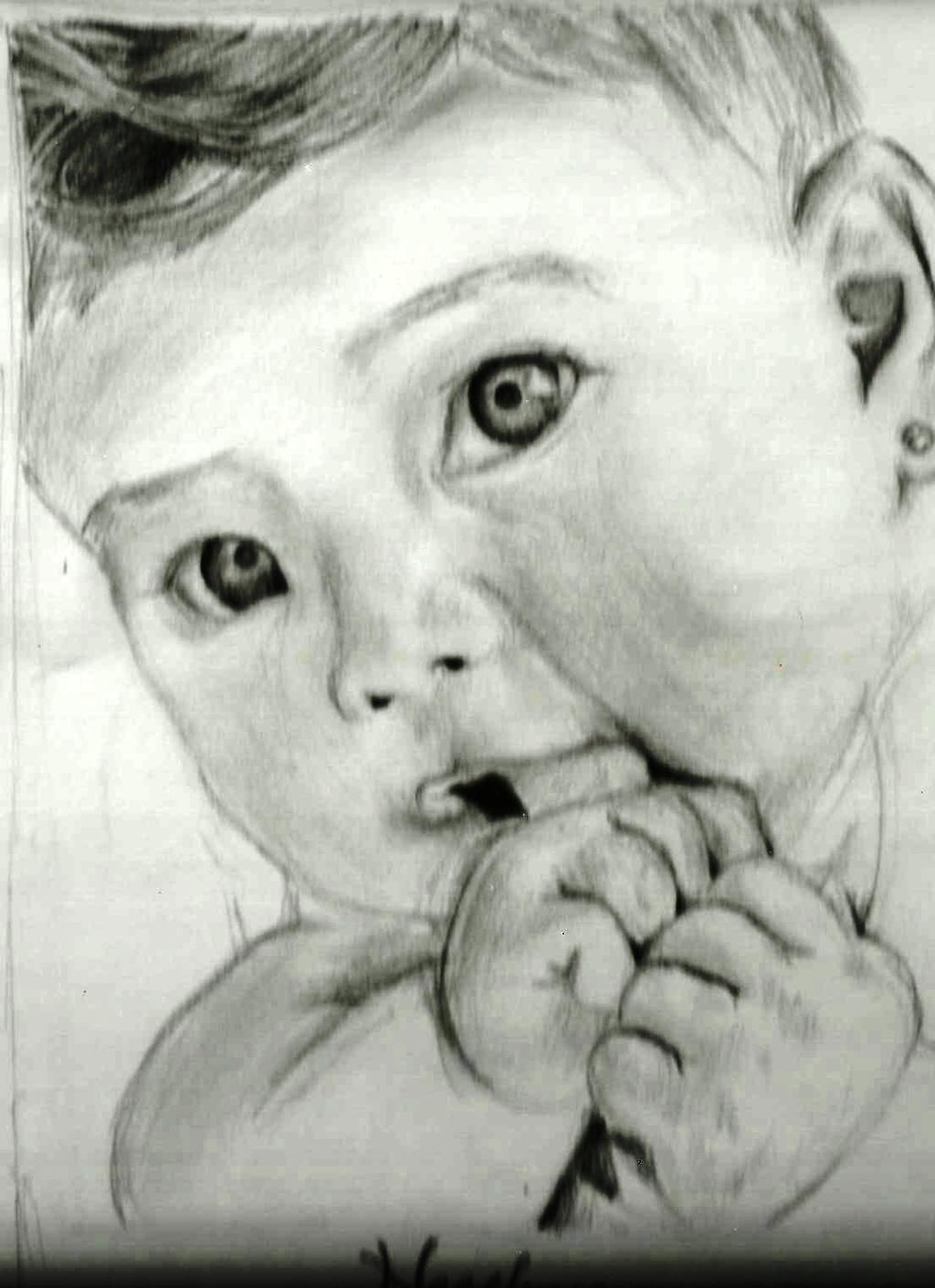 Pencil Drawings Of Babies Baby Pencil Drawing by...