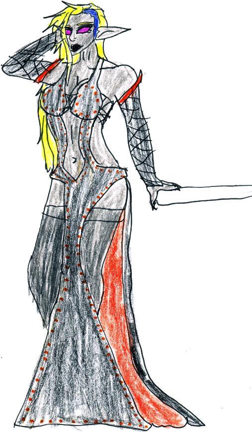 Kanka in dress by jak-woman