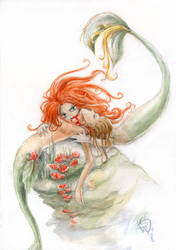 Vampire mermaids by Shadow-y