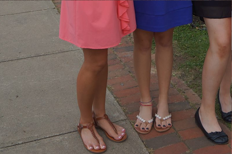 Two Girls, Six Toes by footlover527