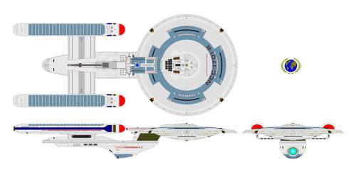 UEF USS Enterprise B by nichodo