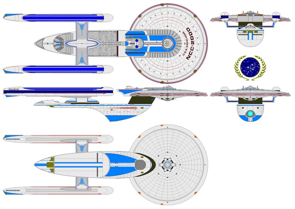 USS Excelsior NCC 2000. by nichodo