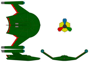 Romulan Bird of Prey (TOS) (Mirror Universe) by nichodo
