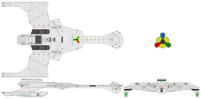 Silver Hawk (Romulan captured Myokie barb class)