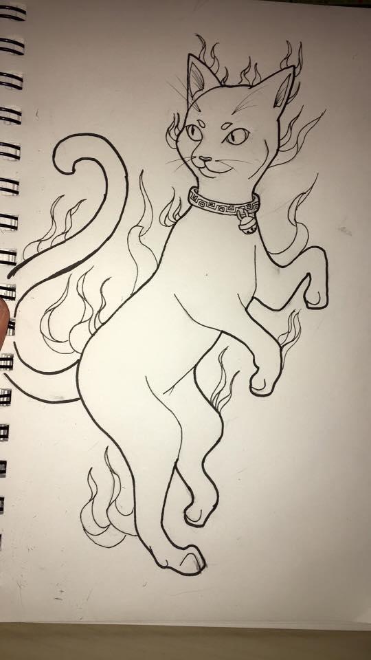 fire cat by Shadowolf-ariel
