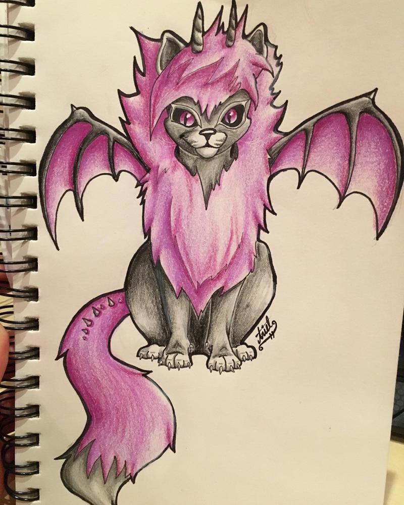 Dragon Kitty by Shadowolf-ariel