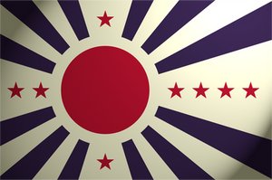Japanese Pacific States Flag by BolianAdmiral