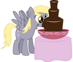Derpy loves chocolate too