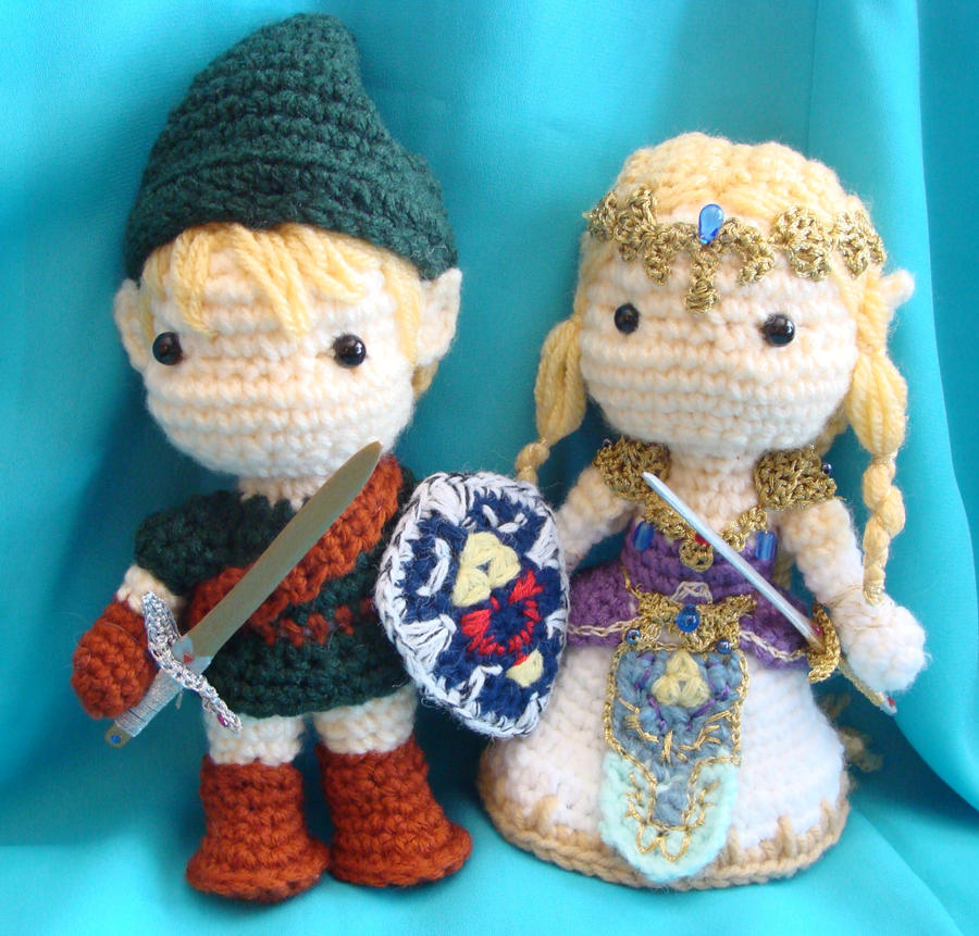 Amigurumi Zelda Patron : Link and Zelda amigurumi dolls by Dragonlady92768 on ...