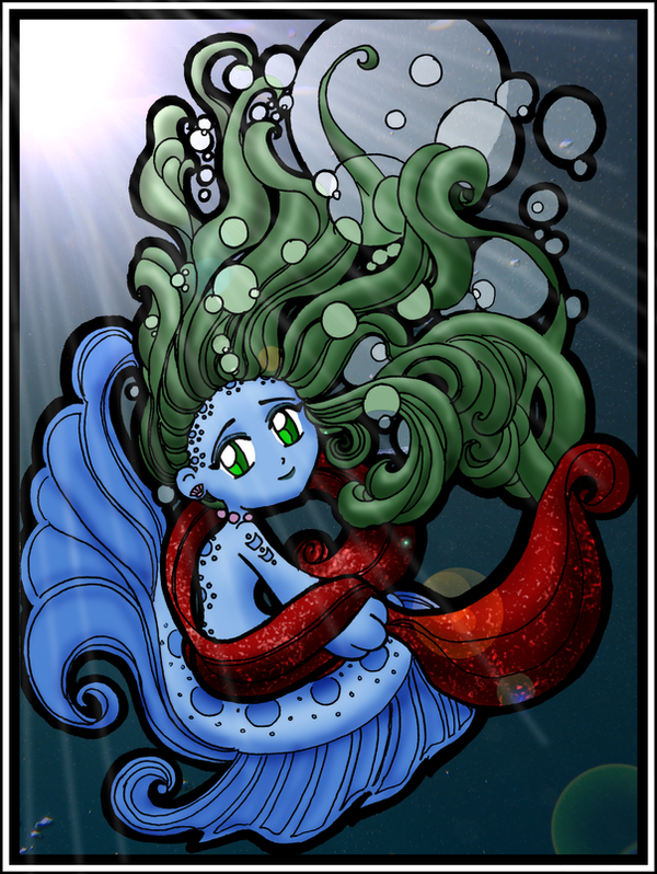 Cyname's Chibi Mermaid by EmeraldTokyo