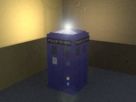 The Tardis with Light