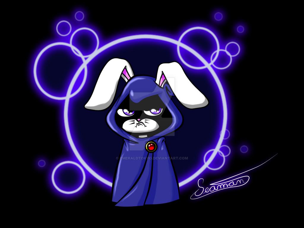 Bunny Raven by EmeraldTokyo