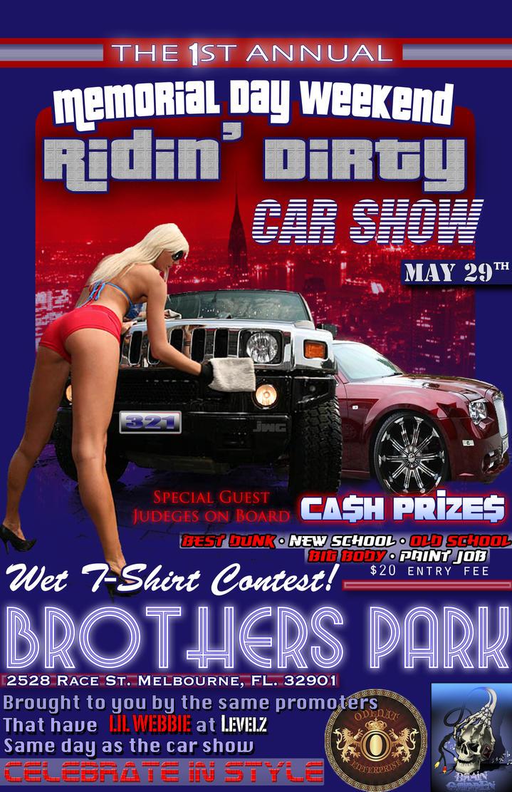 Car Show Flyer Background