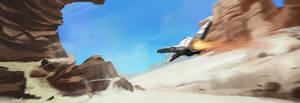 Canyon Speed Flight Speedpainting