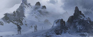How to paint Snow Mountains