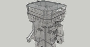 Space colony guard post concept x-ray