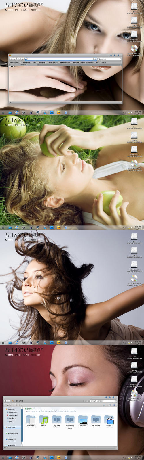 Desktop Girls Win7 by ipapun