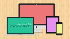 Free Flat Responsive Web Mockups PSD by AinsleyB