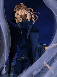 Rhysand and Feyre by OblivionsDream