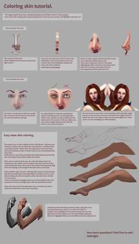 Skin coloring tutorial.