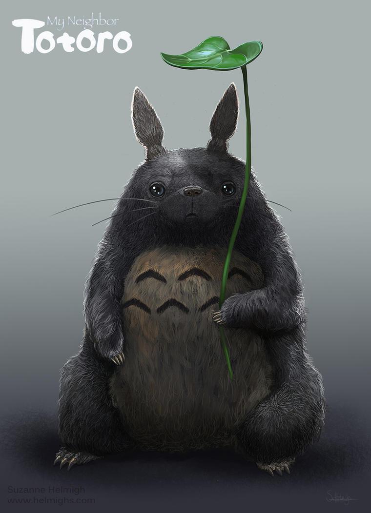Totoro Fan art by Suzanne-Helmigh